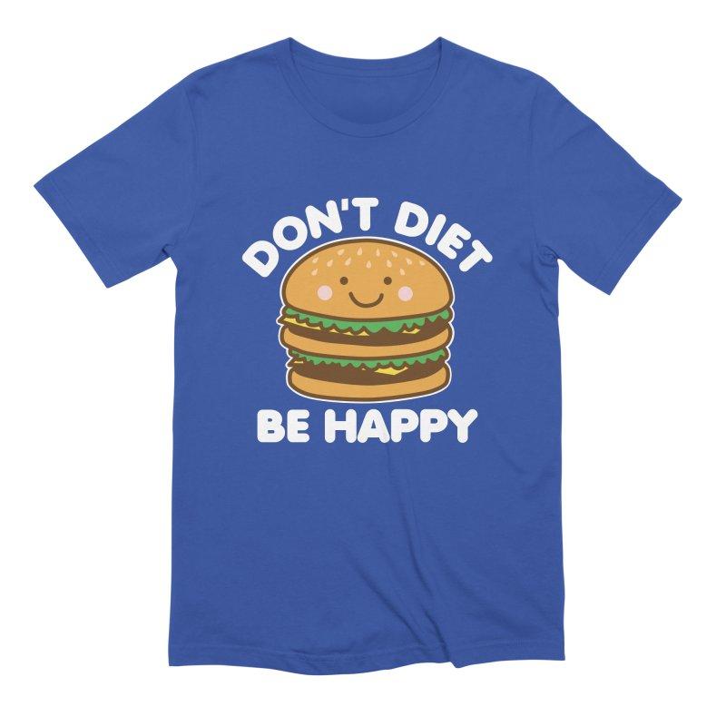 Don't Diet Be Happy Men's Extra Soft T-Shirt by Detour Shirt's Artist Shop
