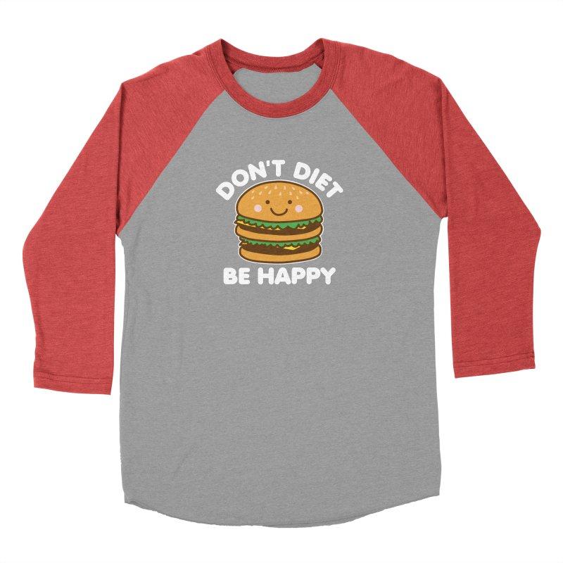 Don't Diet Be Happy Men's Baseball Triblend Longsleeve T-Shirt by Detour Shirt's Artist Shop