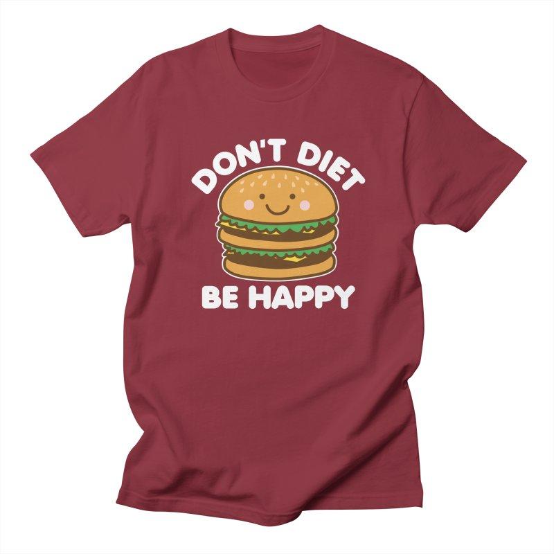 Don't Diet Be Happy Men's Regular T-Shirt by Detour Shirt's Artist Shop