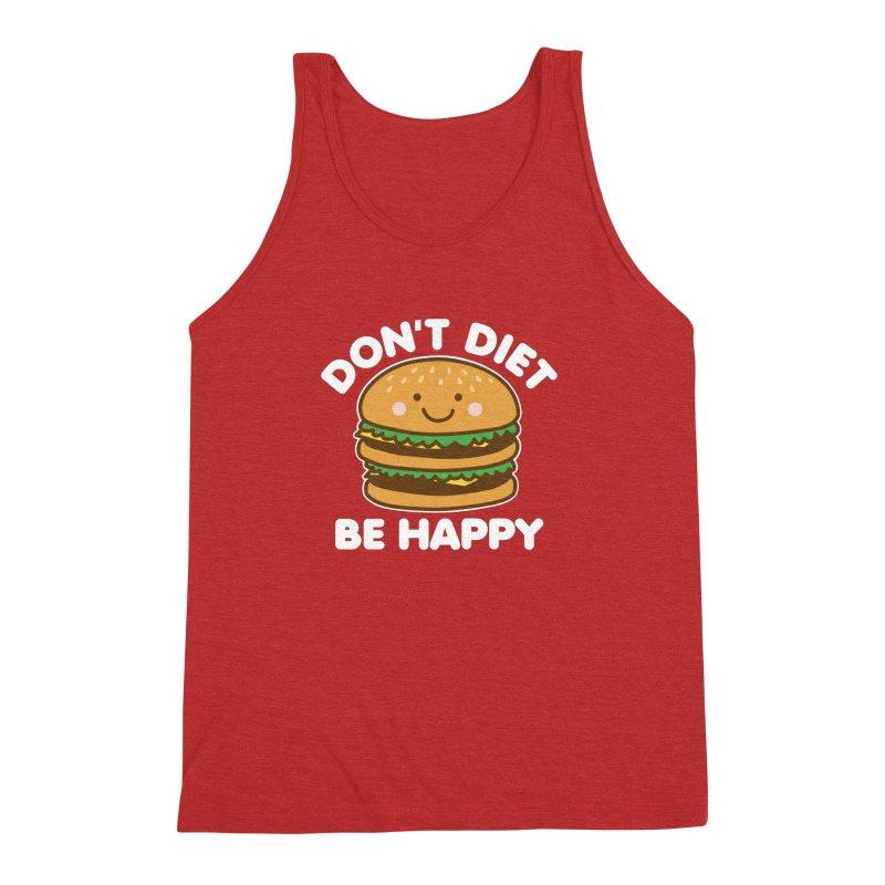 Don't Diet Be Happy Men's Triblend Tank by Detour Shirt's Artist Shop