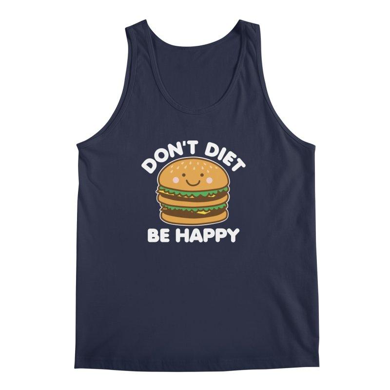Don't Diet Be Happy Men's Regular Tank by Detour Shirt's Artist Shop