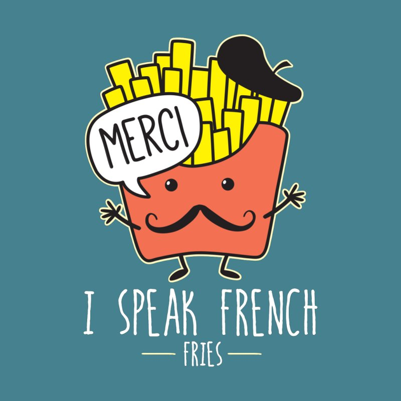 I Speak French Fries Men's Longsleeve T-Shirt by Detour Shirt's Artist Shop
