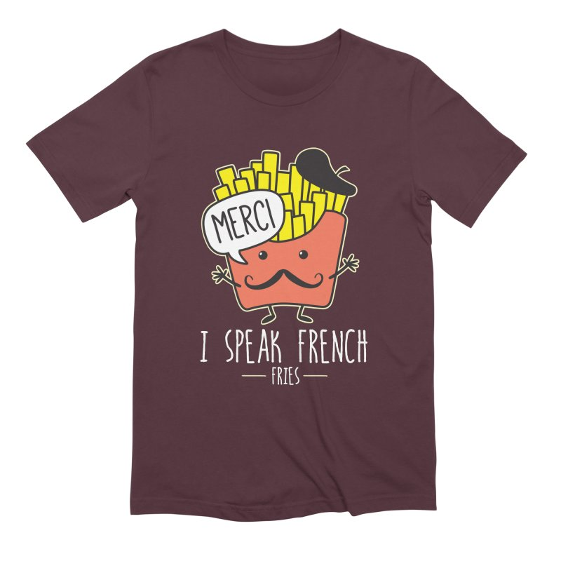 I Speak French Fries Men's Extra Soft T-Shirt by Detour Shirt's Artist Shop