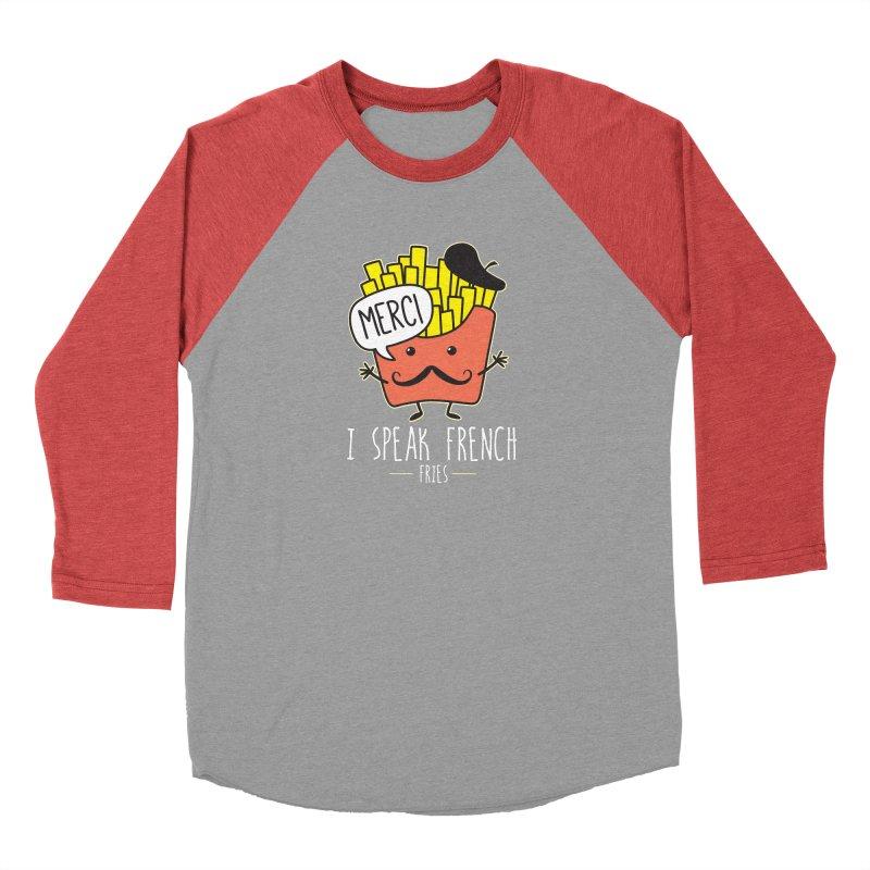 I Speak French Fries Men's Baseball Triblend Longsleeve T-Shirt by Detour Shirt's Artist Shop