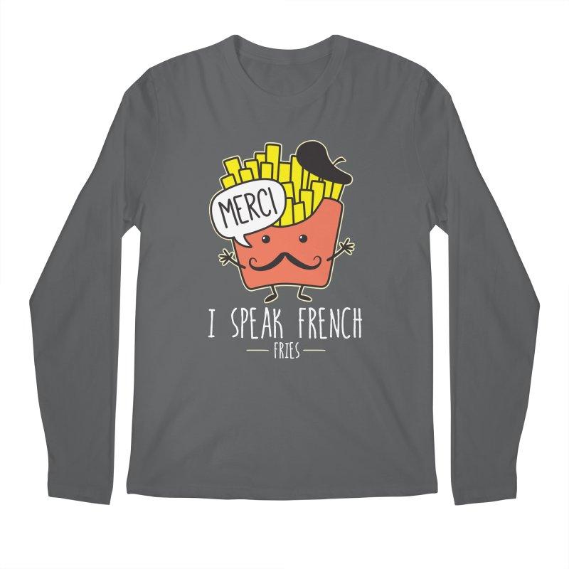 I Speak French Fries Men's Regular Longsleeve T-Shirt by Detour Shirt's Artist Shop