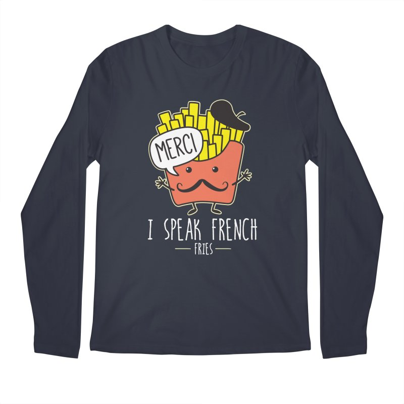 I Speak French Fries Men's Regular Longsleeve T-Shirt by Detour Shirt's Artist Shop