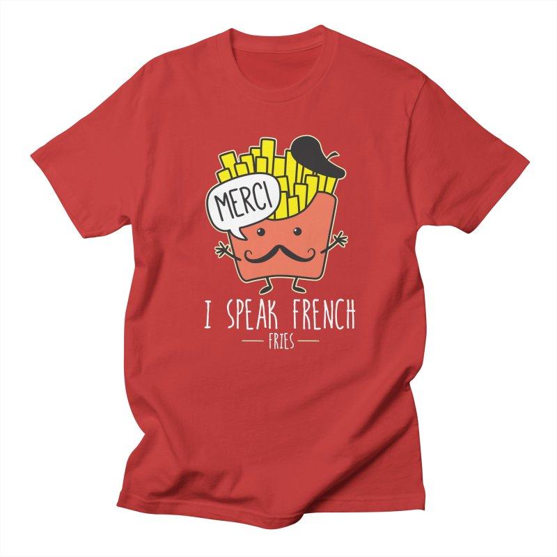 I Speak French Fries Women's Regular Unisex T-Shirt by Detour Shirt's Artist Shop