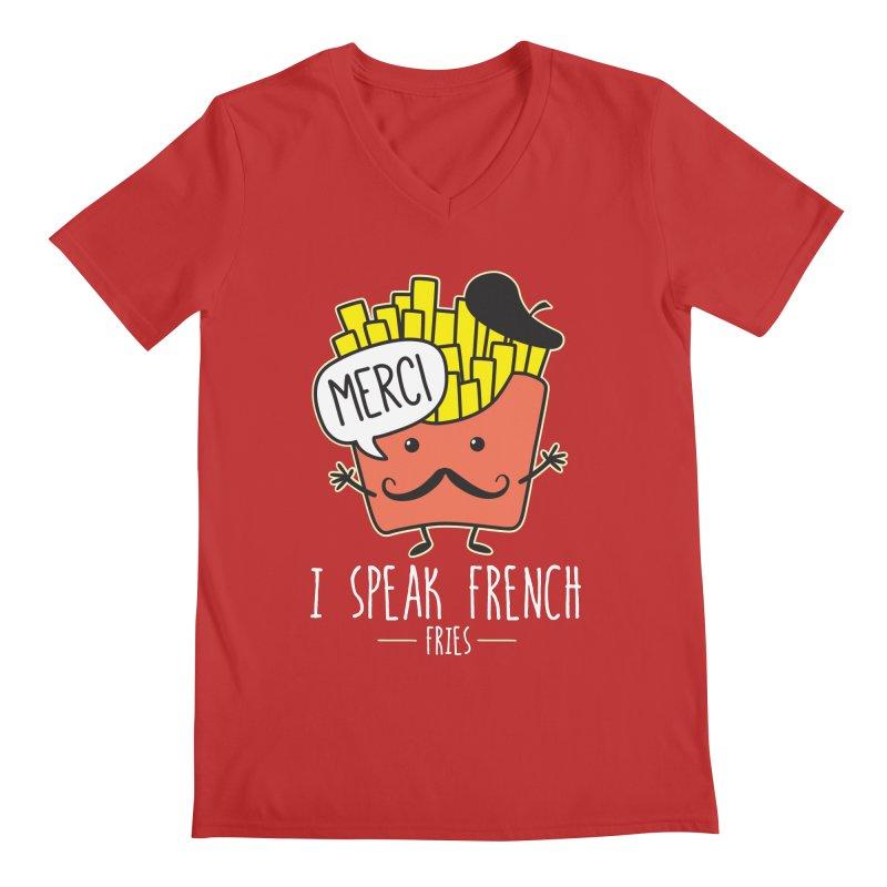 I Speak French Fries Men's V-Neck by Detour Shirt's Artist Shop