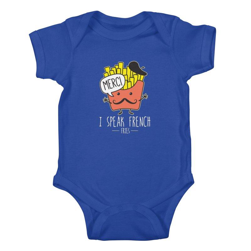 I Speak French Fries Kids Baby Bodysuit by Detour Shirt's Artist Shop