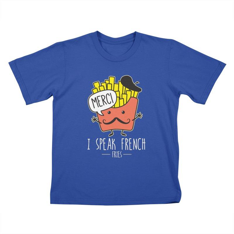 I Speak French Fries Kids T-Shirt by Detour Shirt's Artist Shop