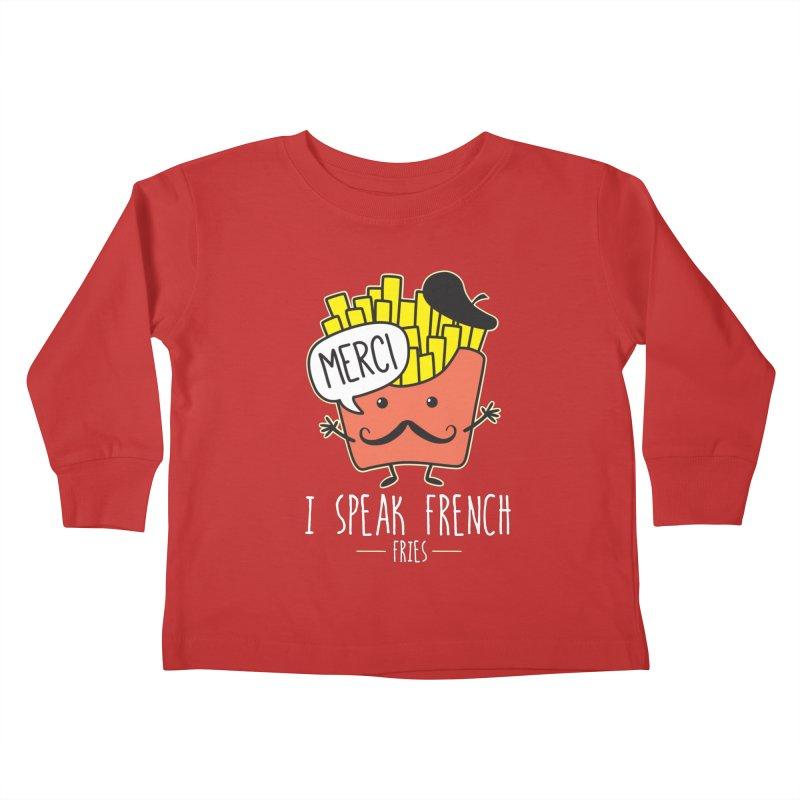 I Speak French Fries Kids Toddler Longsleeve T-Shirt by Detour Shirt's Artist Shop