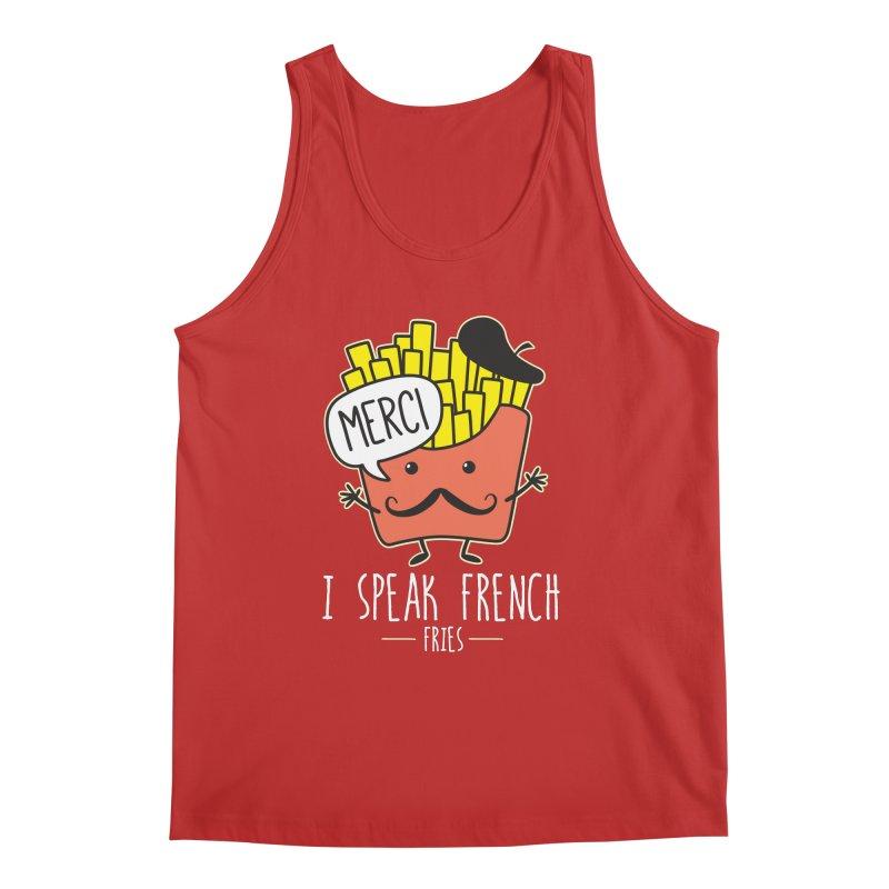 I Speak French Fries Men's Regular Tank by Detour Shirt's Artist Shop