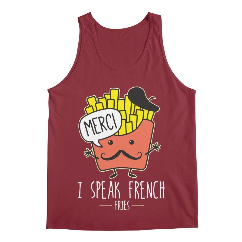 I Speak French Fries Men's Tank by Detour Shirt's Artist Shop