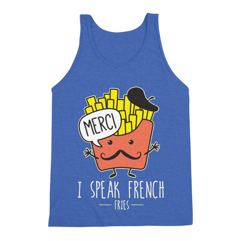 I Speak French Fries Men's Triblend Tank by Detour Shirt's Artist Shop
