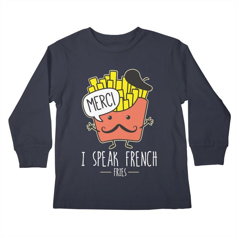 I Speak French Fries Kids Longsleeve T-Shirt by Detour Shirt's Artist Shop