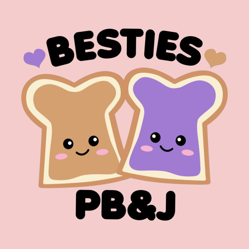 Besties PB&J Kawaii Home Throw Pillow by Detour Shirt's Artist Shop