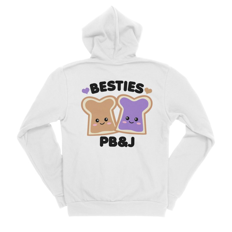 Besties PB&J Kawaii Women's Sponge Fleece Zip-Up Hoody by Detour Shirt's Artist Shop