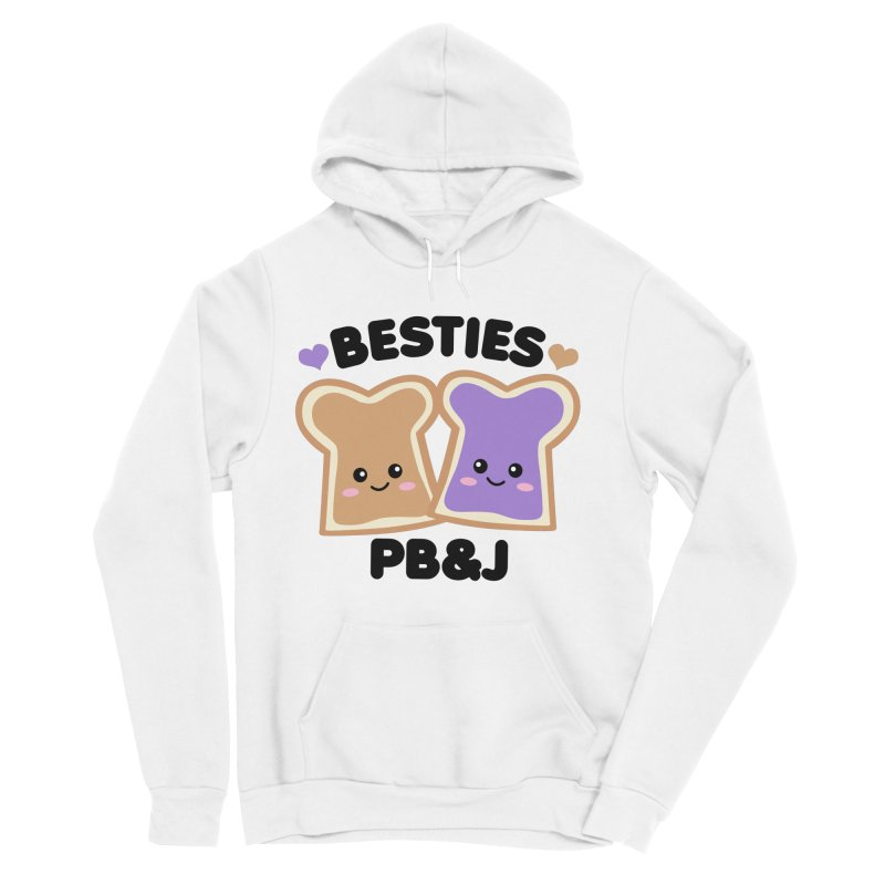 Besties PB&J Kawaii Men's Sponge Fleece Pullover Hoody by Detour Shirt's Artist Shop