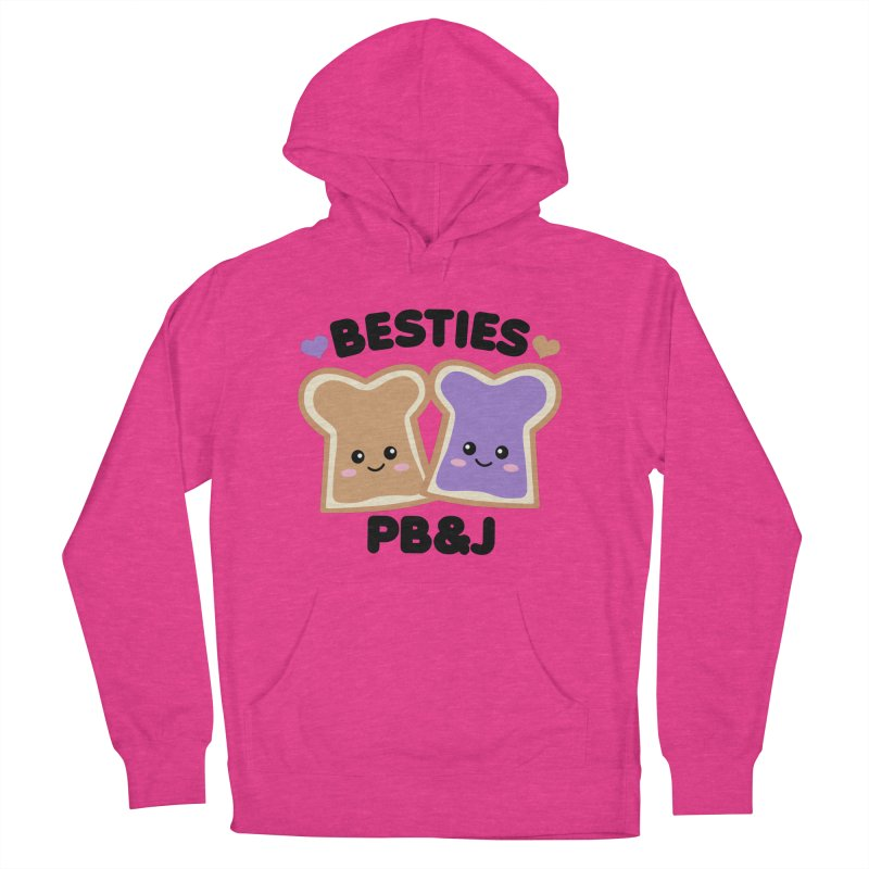 Besties PB&J Kawaii Women's French Terry Pullover Hoody by Detour Shirt's Artist Shop