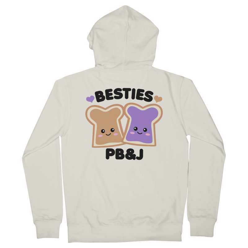 Besties PB&J Kawaii Men's French Terry Zip-Up Hoody by Detour Shirt's Artist Shop