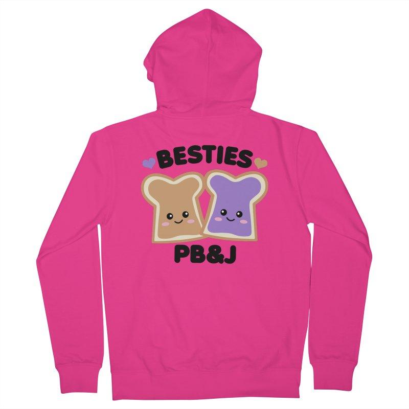 Besties PB&J Kawaii Men's French Terry Zip-Up Hoody by Detour Shirt's Artist Shop