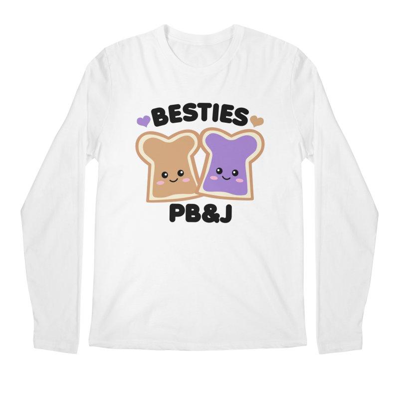 Besties PB&J Kawaii Men's Regular Longsleeve T-Shirt by Detour Shirt's Artist Shop
