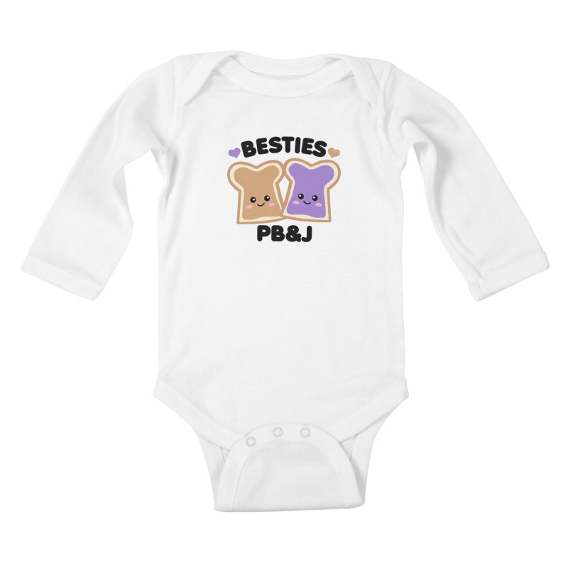Besties PB&J Kawaii Kids Baby Longsleeve Bodysuit by Detour Shirt's Artist Shop
