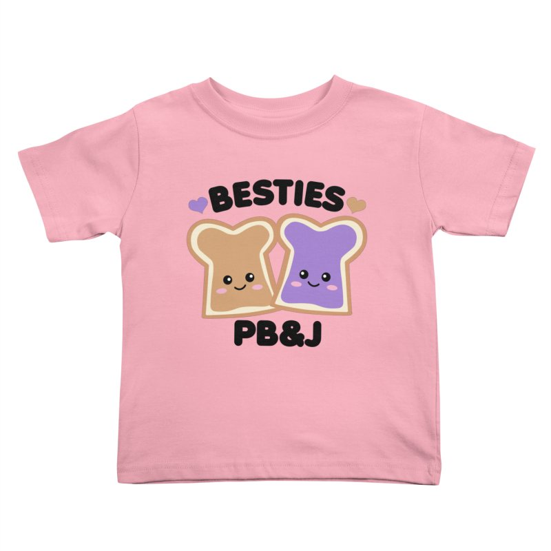 Besties PB&J Kawaii Kids Toddler T-Shirt by Detour Shirt's Artist Shop