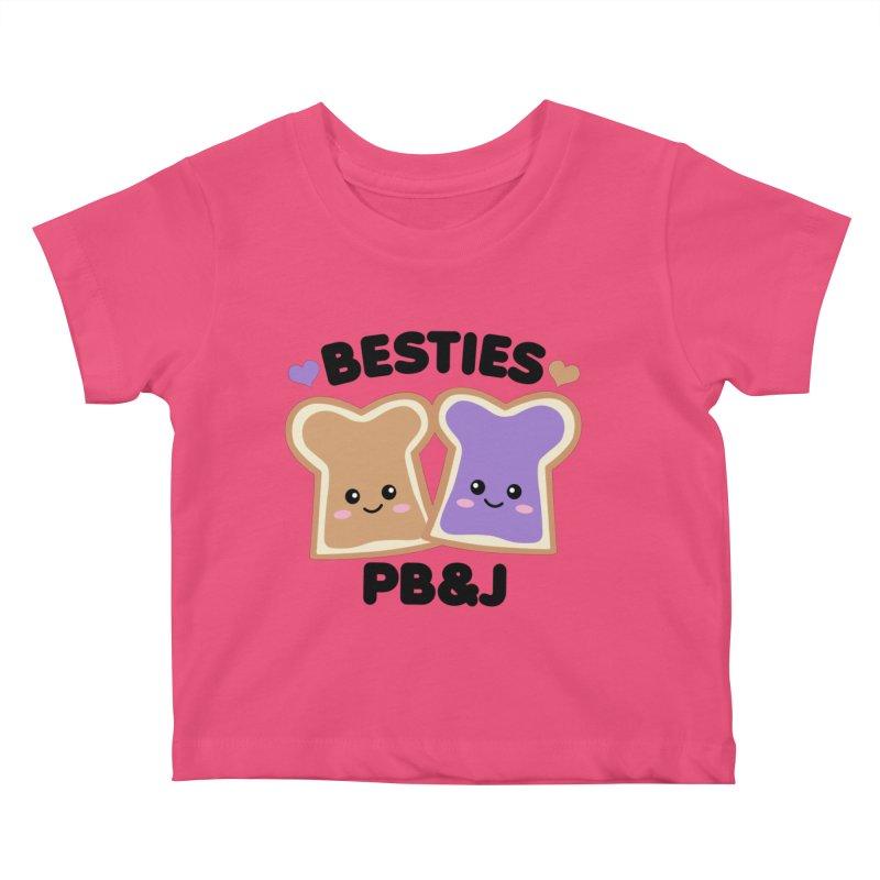 Besties PB&J Kawaii Kids Baby T-Shirt by Detour Shirt's Artist Shop