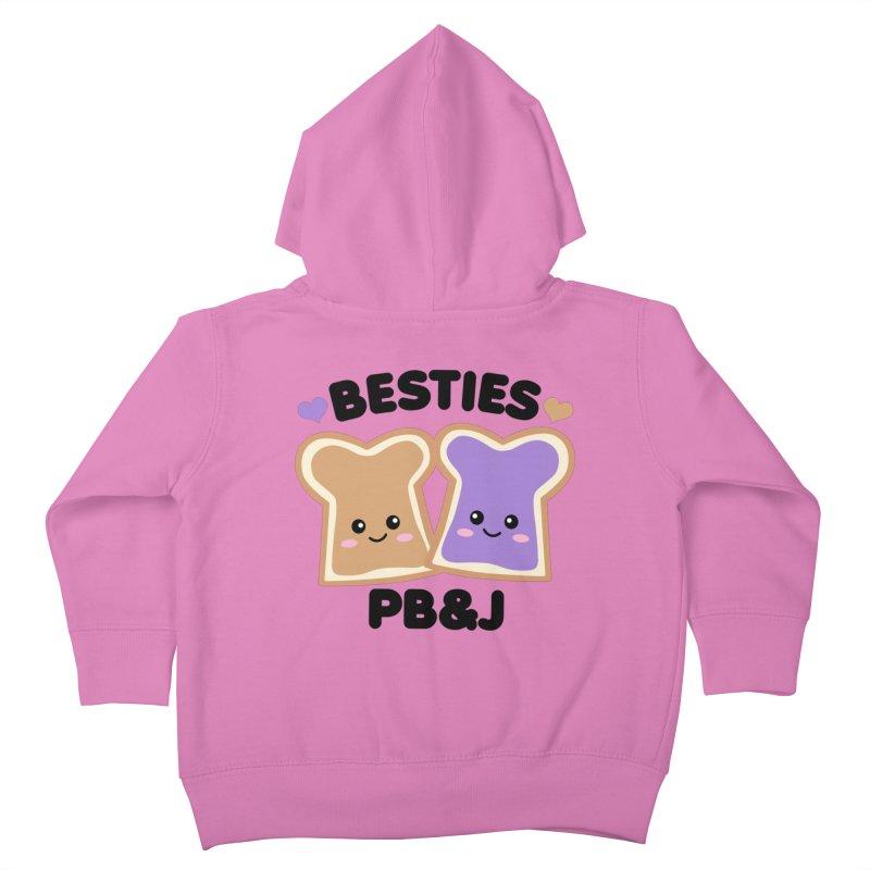 Besties PB&J Kawaii Kids Toddler Zip-Up Hoody by Detour Shirt's Artist Shop