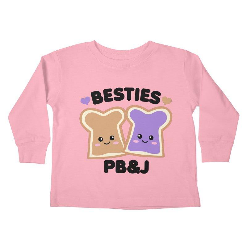 Besties PB&J Kawaii Kids Toddler Longsleeve T-Shirt by Detour Shirt's Artist Shop