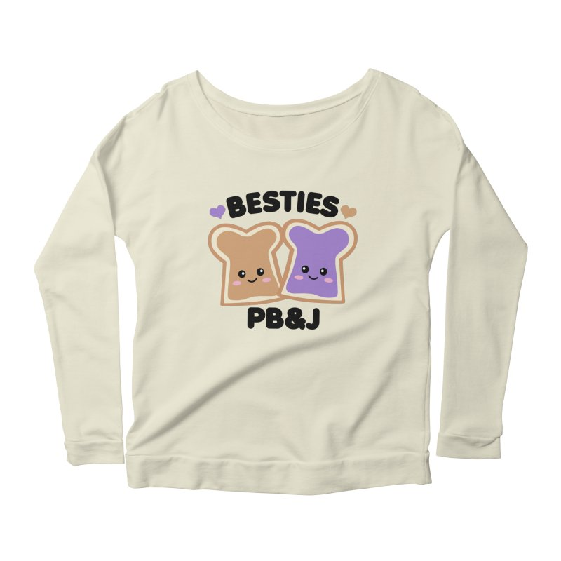 Besties PB&J Kawaii Women's Scoop Neck Longsleeve T-Shirt by Detour Shirt's Artist Shop