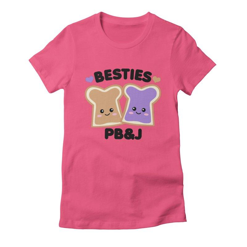 Besties PB&J Kawaii Women's Fitted T-Shirt by Detour Shirt's Artist Shop