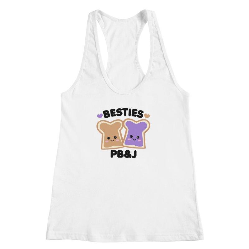 Besties PB&J Kawaii Women's Racerback Tank by Detour Shirt's Artist Shop