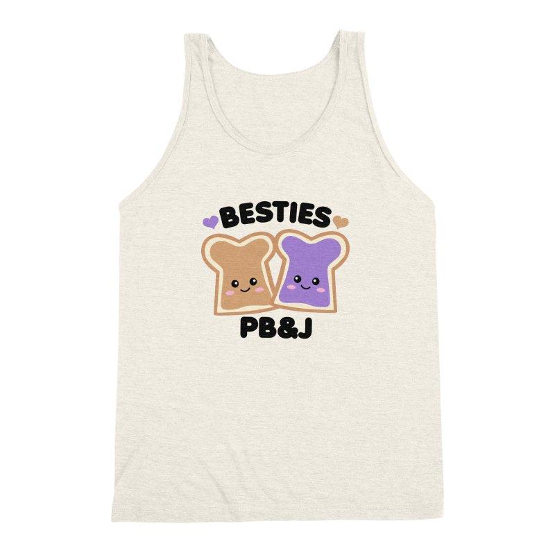 Besties PB&J Kawaii Men's Triblend Tank by Detour Shirt's Artist Shop