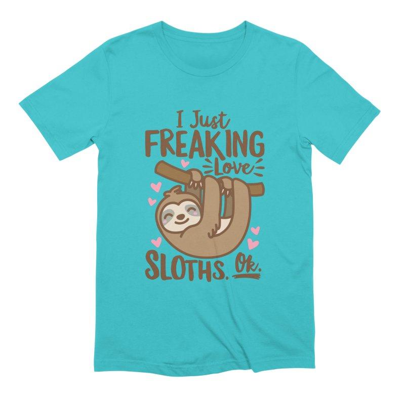 I Just Freaking Love Sloths Ok Men's Extra Soft T-Shirt by Detour Shirt's Artist Shop