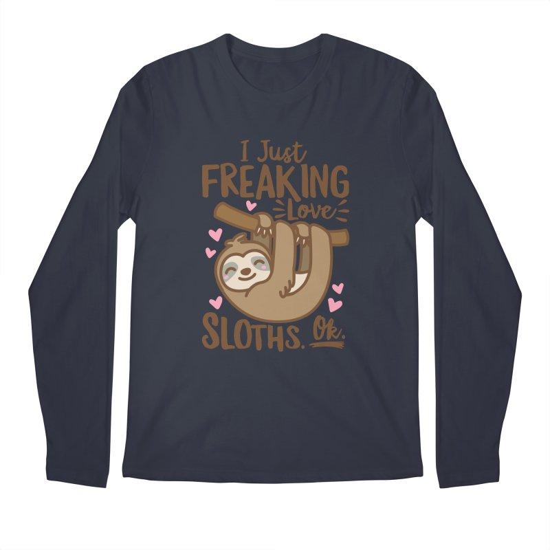 I Just Freaking Love Sloths Ok Men's Regular Longsleeve T-Shirt by Detour Shirt's Artist Shop