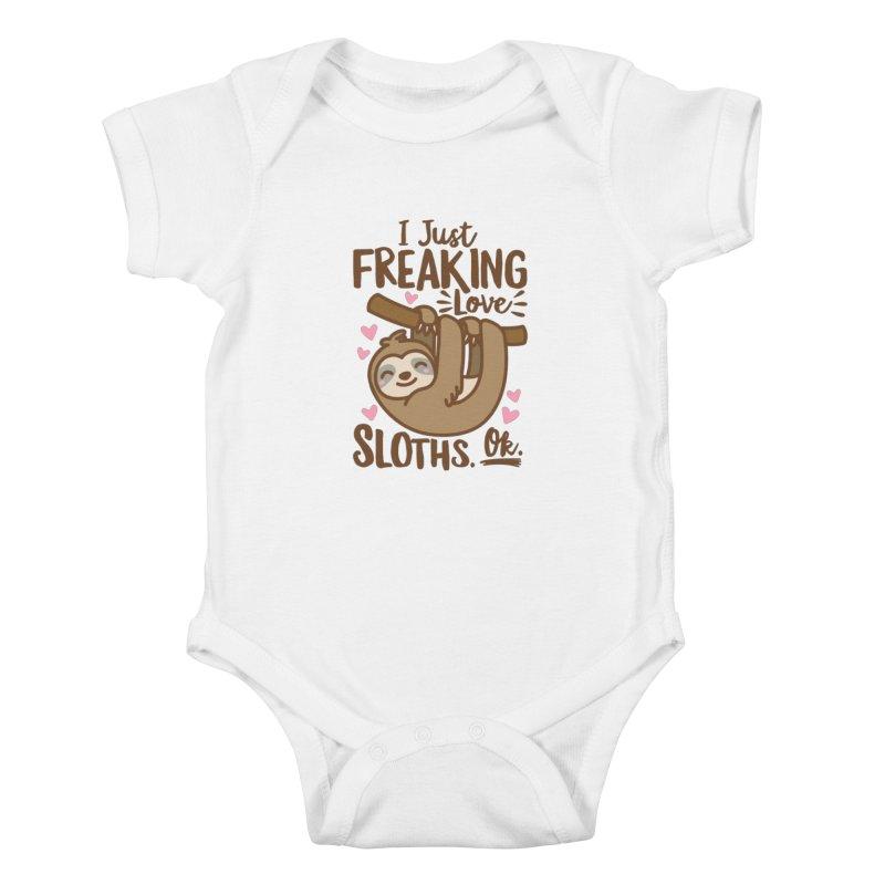 I Just Freaking Love Sloths Ok Kids Baby Bodysuit by Detour Shirt's Artist Shop