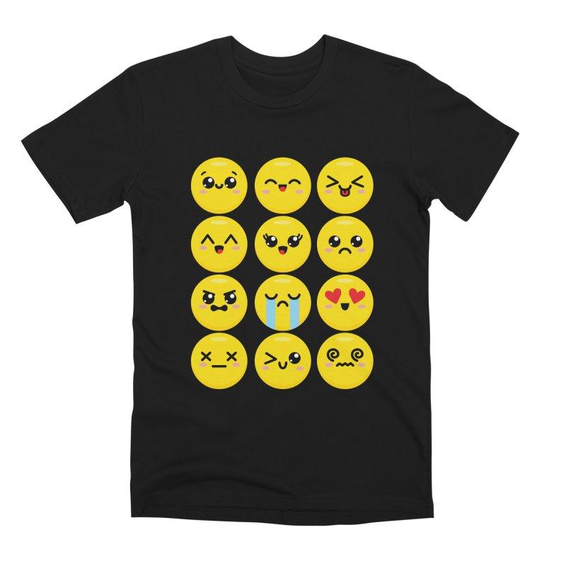 Kawaii Emojis Men's Premium T-Shirt by Detour Shirt's Artist Shop