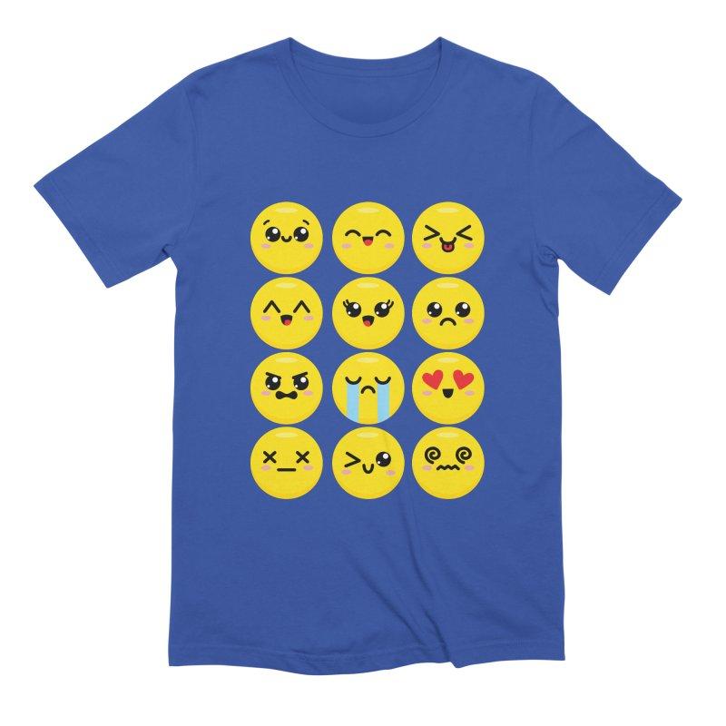 Kawaii Emojis Men's Extra Soft T-Shirt by Detour Shirt's Artist Shop