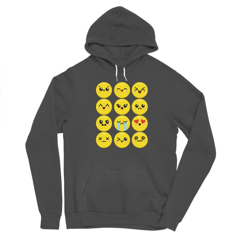 Kawaii Emojis Men's Sponge Fleece Pullover Hoody by Detour Shirt's Artist Shop