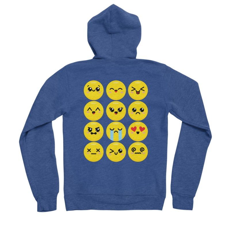 Kawaii Emojis Women's Sponge Fleece Zip-Up Hoody by Detour Shirt's Artist Shop