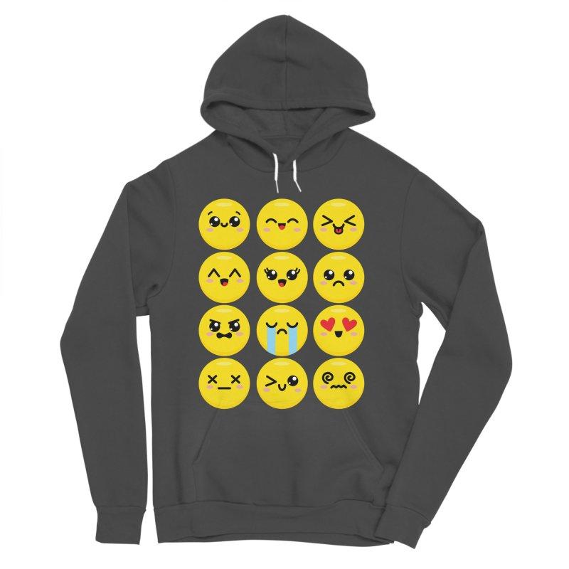 Kawaii Emojis Men's Sponge Fleece Pullover Hoody by Detour Shirt's Artist Shop
