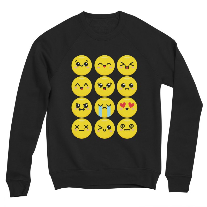Kawaii Emojis Men's Sponge Fleece Sweatshirt by Detour Shirt's Artist Shop