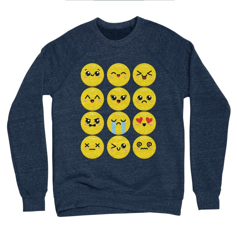 Kawaii Emojis Men's Sponge Fleece Sweatshirt by Detour Shirt's Artist Shop