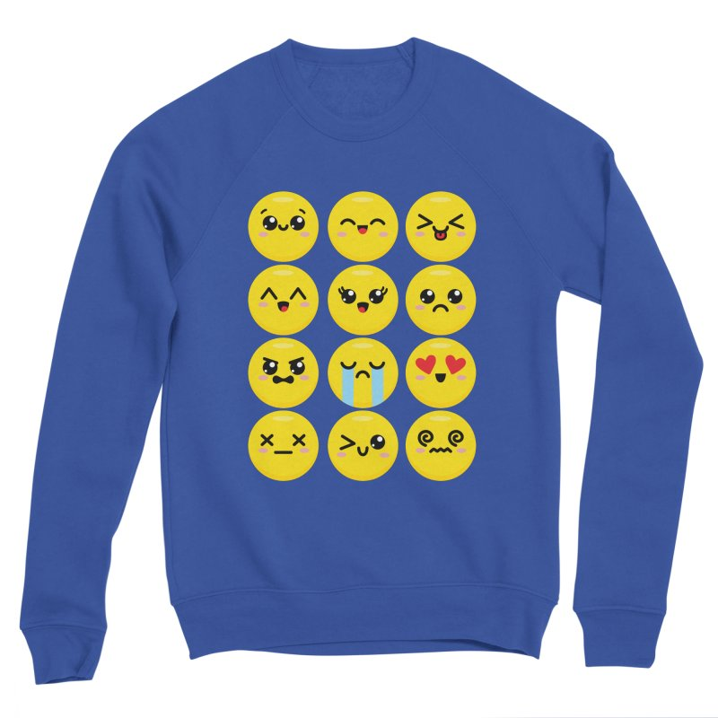 Kawaii Emojis Men's Sweatshirt by Detour Shirt's Artist Shop