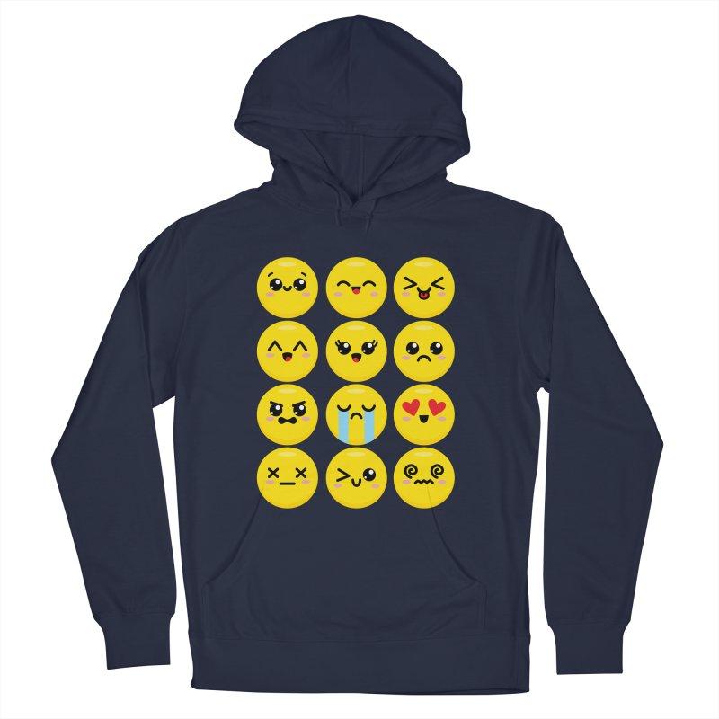 Kawaii Emojis Women's French Terry Pullover Hoody by Detour Shirt's Artist Shop