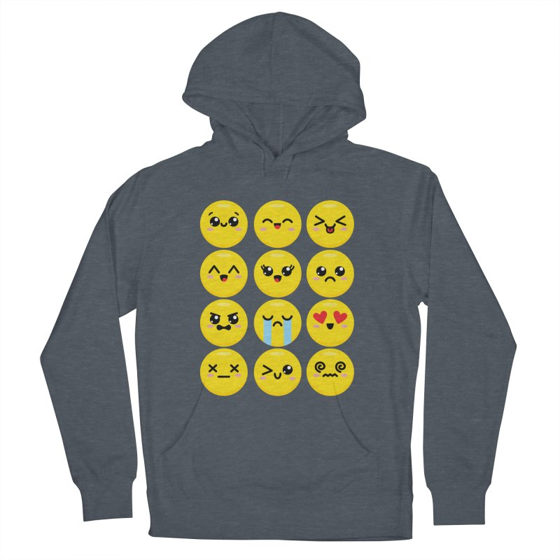 Kawaii Emojis Men's French Terry Pullover Hoody by Detour Shirt's Artist Shop