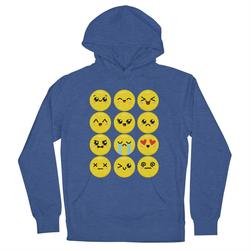 Kawaii Emojis Men's French Terry Pullover Hoody by Detour Shirt's Artist Shop