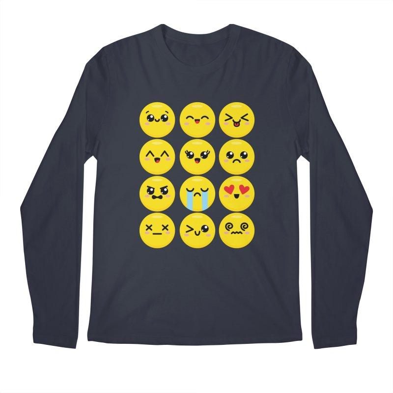 Kawaii Emojis Men's Regular Longsleeve T-Shirt by Detour Shirt's Artist Shop